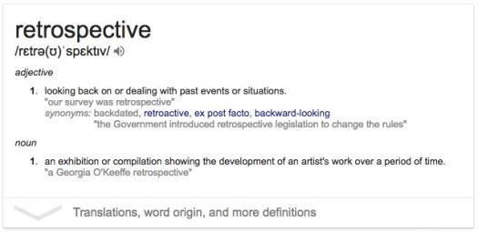 restrospective